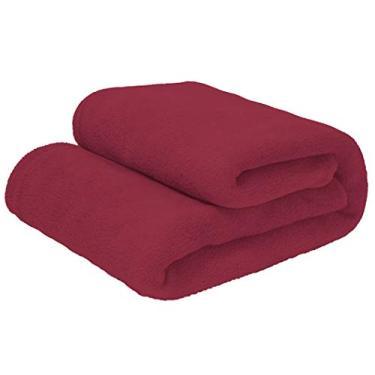 Imagem de Cobertor Manta Microfibra Casal 180 x 220 m Cores Camesa Cor:Vermelho escuro