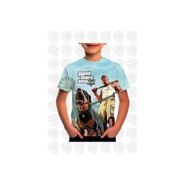 Camiseta Gta 5 Grand Theft Auto 5 Infantil Estampa Total