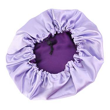oshhni Gorro de cetim para mulheres, Roxa, Diameter 36cm Adjustable