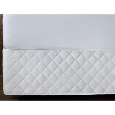 Imagem de Saia Cama Box Matelada Casal Queen Branca - Linha Elegance