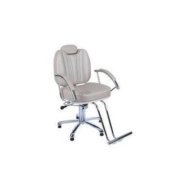 Cadeira De Barbeiro Hidraulica Reclinável Milla, Cabeleireiro, Maquiagem, Móveis P/ Salão, Fortebello - Cor: Fendi