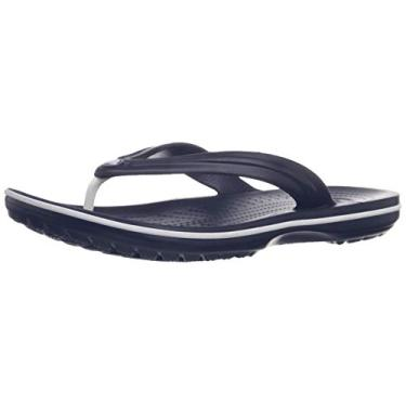 Chinelo Crocband Flip, Crocs, Adulto Unissex, Navy, 39