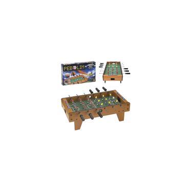 Imagem de Mini Mesa De Pebolim Completa Brinquedo Infantil Totó Futebol De Mesa