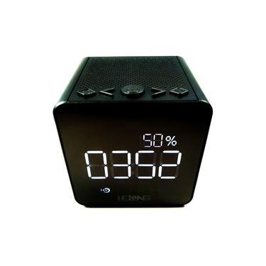 Rádio Relógio Despertador Digital Bluetooth Usb Cartão Sd Fm Le-673