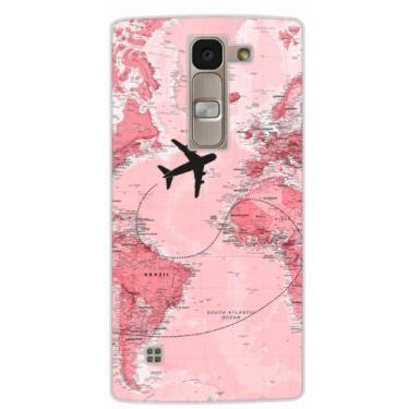 Capa para LG Volt Mapa Mundi Rosa