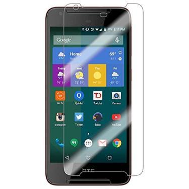 [2 unidades] Protetor de tela para HTC Desire 628, protetor de tela de vidro temperado transparente resistente a arranhões para HTC Desire 628 de 5,0 polegadas