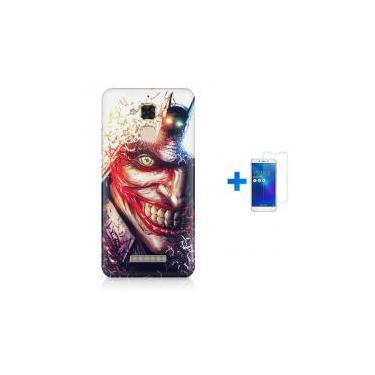 Kit Capa TPU Zenfone Max ZC520TL Coringa Batman + Pel Vidro (BD01) - Skin 62120bd024931