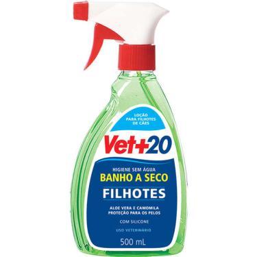 Banho a Seco Filhotes Spray Vet+20 para Cães - 500 mL