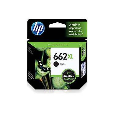 Cartucho de Tinta HP 662 XL - Alto Rendimento - Preto - CZ105AB - HP