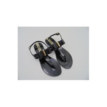Sandalia Rasteira Plastica Chocolate Shoes 820.002 Preto