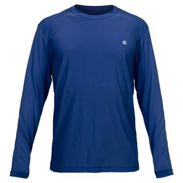 Camiseta Active Fresh Ml - Masculino Curtlo GG Azul Escuro