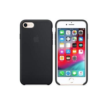Capa Case Capinha iPhone SE (2020) / 7 / 8 Apple Silicone Aveludada Preto / Preta