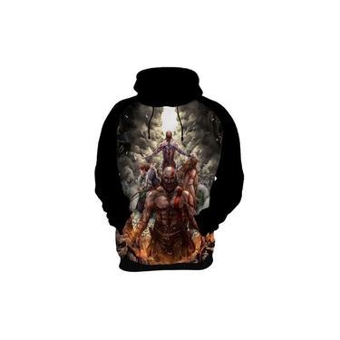 Blusa De Frio Moletom Capa God Of War 4 Jogo Game Ps4 Kratos Deus Da Guerra Hd