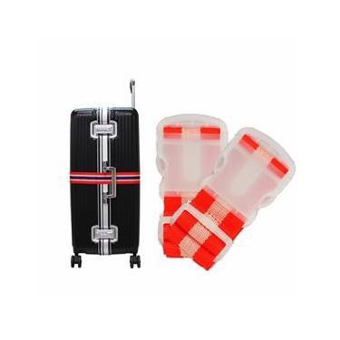 Kit 2 Cintas de Segurança para Mala de Viagem Bagagem Vermelho Ys27025