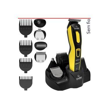 Máquina Cortar Cabelo Aparador De Barba Barbeador Trimmer De Nariz Orelha Gama Gcx623 Sport Sem Fio Bivolt 4 Pentes
