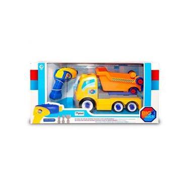 Imagem de Caminhão Basculante 29cm Com Parafusadeira Big X Truck 6558 - Homeplay