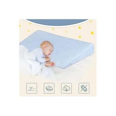Travesseiro Rn Anti Refluxo Rampa Bebê AZUL