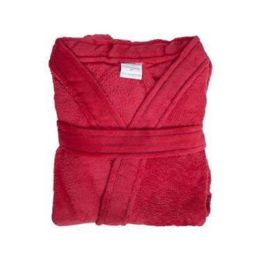 Imagem de Roupão De Inverno Atlântica - Kimono De Microfibra Dalia Vermelho
