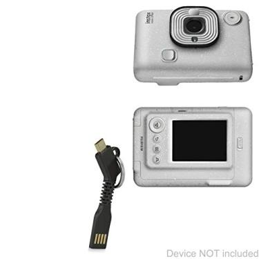 Cabo Fujifilm Instax Mini LiPlay, BoxWave [Micro USB chaveiro carregador] Chaveiro Micro USB Cabo para Fujifilm Instax Mini LiPlay - Preto Jet
