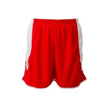 4a2054028f Calção Futebol Play Fair Copa Microfibra Vermelho Branco