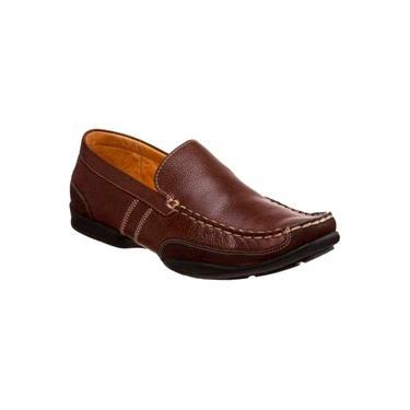Sapato Casual Para Pés Largos Masculino Loafer Sandro Mosocoloni Hayn Marrom (nauro)
