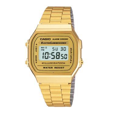 93aa51806d2 Relógio Casio Vintage Unissex Dourado Digital A168WG-9WDF
