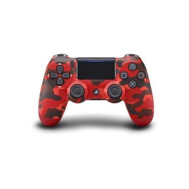 Controle Sem Fio Dualshock 4 Vermelho Camuflado Original - PS4
