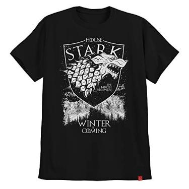 Camiseta Game Of Thrones Casa Stark Winter Is Coming North XG