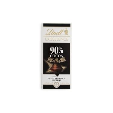 Tablete Lindt Excellence 90% Cacau Dark Chocolate 100g Questão de Gosto