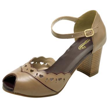 Sandália em Couro Miuzzi Taupe  feminino