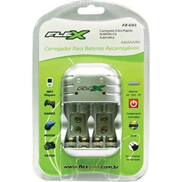 Imagem de Carregador de Pilhas AA/AAA/9V FXC03 Bivolt FLEX, Flex, FXC03, N/DISP