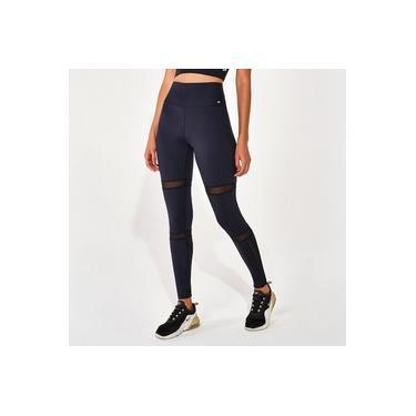Calça Legging Alto Giro UPCO2 Com Recortes De Tule 2111338