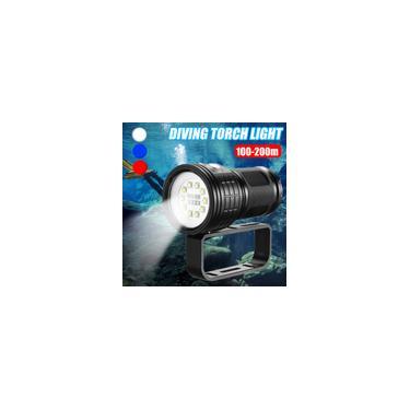 Super Bright LED Lanterna de Mergulho Subaquática IPX8 XML2 Fotografia Câmera de Vídeo Lanterna Tática Lanterna Tocha LED