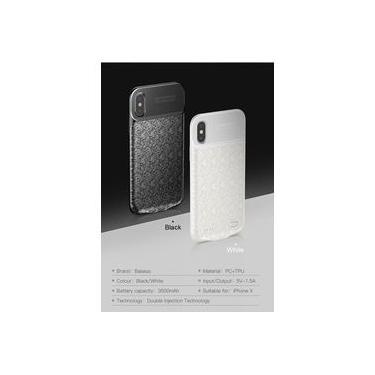 Capa Carregadora Iphone X 3500mah Baseus - Preta - Preto