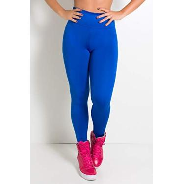 Imagem de Calça Legging Akira Fitness Suplex Lisa Feminina Academia (Azul Royal, G)