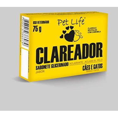 Sabonete Pet Life Clareador Cães e Gatos 75g