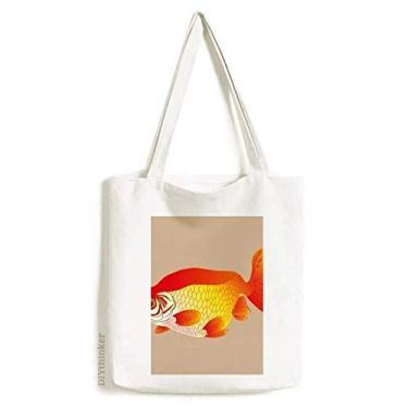 Imagem de Pintando cultura japonesa peixe dourado sacola sacola de compras bolsa casual bolsa de mão