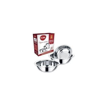 Imagem de Conjunto 3 Bowl Em Aço Inox Tigela Multiuso Cozinha - Clink