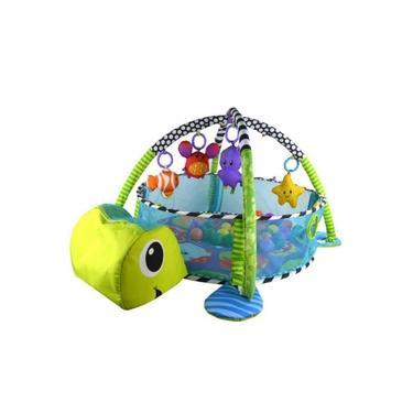 Imagem de Tapete De Atividades Para Bebê Com Piscina De Bolinha Tartaruga Color Baby