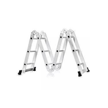 Escada de alumínio articulada 4x3 12 degraus Exclusivo Telhanorte