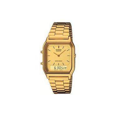 9f54f1463f8 Relógio Feminino Anadigi Casio Vintage Aq-230GA-9DMQ - Dourado
