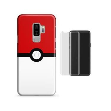 Kit Capa Case TPU Galaxy S9 Plus Pokeball + Película de Vidro
