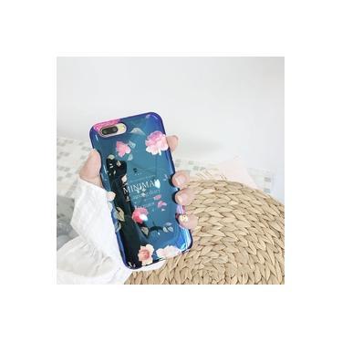 Para Iphone 7 8 Plus 6 S Blu-ray Flor Phone Case Para Iphone Xs X 6 6 S 7 8 Plus Black Rose Macio B
