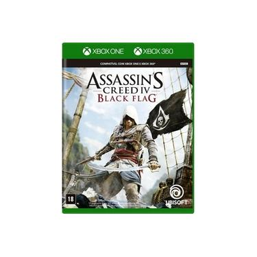 Jogo Midia Fisica Assassins Creed Black Flag Xbox 360 E One