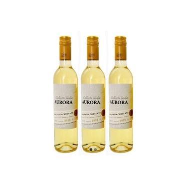 Kit 3 Vinhos Aurora Colheita Tardia - Suave/Doce 500ml