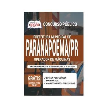 Imagem de Apostila Concurso Paranapoema Pr - Operador De Máquinas