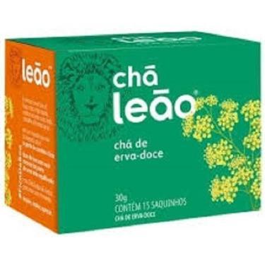 Chá De Erva Doce Com 15 Saquinhos -Kit 2 Caixas - Leão