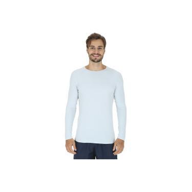 dc4bae7c120ff Camiseta Manga Longa com Proteção Solar UV50 Oxer Custom - Masculina -  CINZA CLARO Oxer