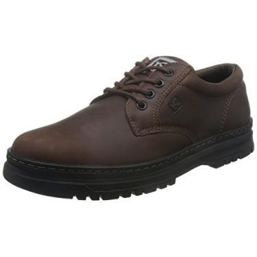 Sapato Casual Couro Kildare Pespontos Tratorado - Marrom - 43