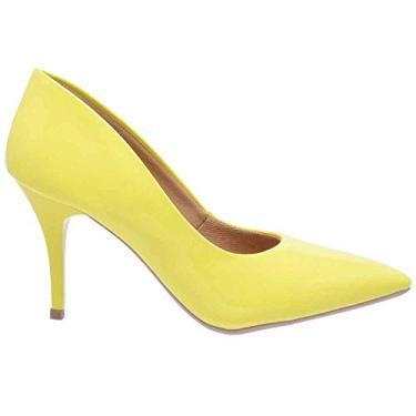 Scarpin Casual Feminino Ellas Online Amarelo